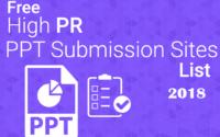 high pr ppt submission sites list 2018