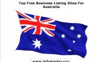 High PR Free Australia Business Listing Sites
