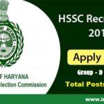 HSSC-Recruitment-2018 Apply for 18218 Group -D posts
