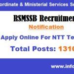 RSMSSB Recruitment 2018 NTT Teachers