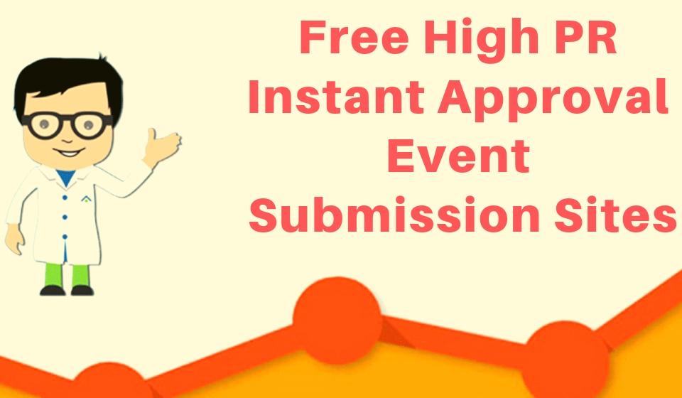 event submission sites list 2019