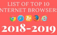 List of top 10 Internet Browsers 2018-2019