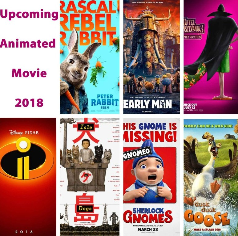 list of new upcoming hollywood animated movies in 2018
