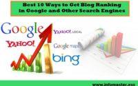 best 10 ways to get blog ranking