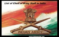 list of cheif of army staff
